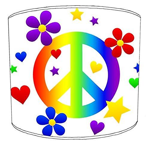 8pulgadas mesa hippie paz y amor Lampshades4, 30,5 cm