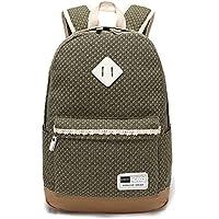 YiSherry Canvas Laptop Bag Shoulder Daypack School