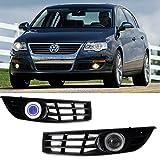 eeMrke EE-2015Y02-AE5200 Auto Angel Eyes LED Tagfahrlicht H11 55W Halogen Nebelscheinwerfer Kits für Passat B6 (Typ 3C) 2005-2010