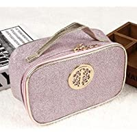HOYOFO Large Capacity Cosmetic Bag Toiletry Kit Travel Storage package Pink