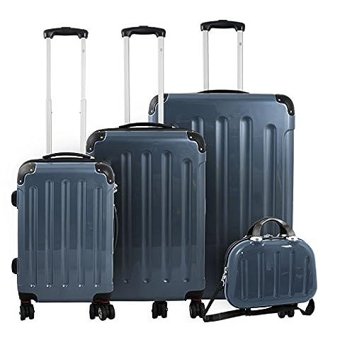 Trendyshop365–Lot de bagages 4piècesen Polycarbonate –Valise à roulettes Mauritius II