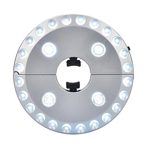 LED-Sonnenschirm-Lichter 28 Leds Garten-Patio-Regenschirm-Licht 3 Niveau-Dimming-Regenschirm Beleuchtung Lampe Batteriebetriebenes im Freienkampierendes Zelt-Licht (Silber, 1 Stück) (3 Stück Patio Bar)