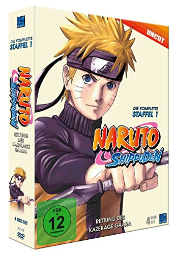 Naruto Shippuden, Staffel 1: Rettung des Kazekage Gaara (Episoden 221-252, uncut) [4 DVDs] (Naruto Shippuden Anime)