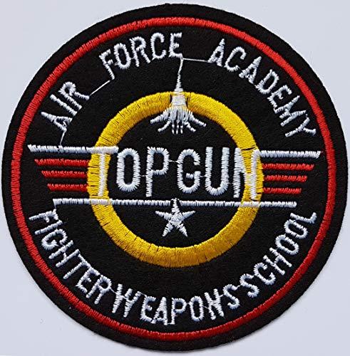 9,6 cm Flugzeug Top Gun Air Force Acamedy Patch Armee Militär USA Piloten-Flieger Abzeichen Stoff zum Aufbügeln Cameleon-Shop -