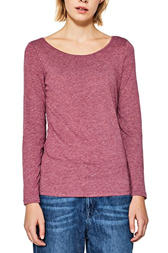 ESPRIT Damen Langarmshirt 087EE1K057 Rot (Cherry Red 4 618), X-Large (Shirt Damen Cherry)