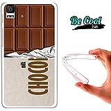 Becool® Fun - Funda Gel Flexible para Bq Aquaris E4.5 .Carcasa TPU fabricada con la mejor Silicona, protege y se adapta a la perfección a tu Smartphone y con nuestro diseño exclusivo Tableta de chocolate