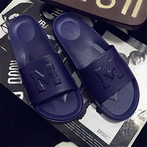 Polliwoo Herren Damen Pantoffeln EVA sohle Unisex-Erwachsene Hausschuhe Sandalen Marineblau
