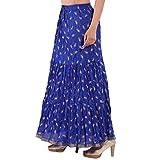 Decot Paradise Women's A-Line Skirt (SKT354_Blue_Free Size)