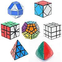 Comparador de precios HJXDtech- Shengshou 7 pack cubos mágicos conjunto de cubo de espejo megaminx pyraminx Square-1 Skewb Mastermorphix y 24 rompecabezas de ... - precios baratos