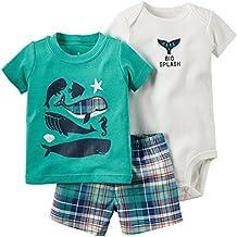 ARAUS Conjuntos Recien Nacido Pequeño Niño Bebé Ropa Dibujos Animados Imprimir Camiseta Tops + Pantalones Cortos