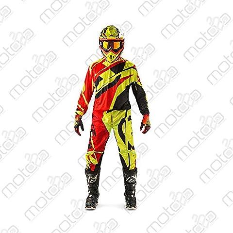 Pantaloni motocross Acerbis MX Profile rosso/giallo