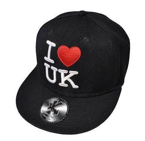 "Underground Kulture ""I Love UK Casquette de Baseball Réglable Noir (Snapback)"