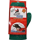 Super Rubber Bath Glove for Dogs , Green