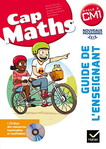 CAP Maths CM1 Éd. 2017 - Guide pédagogique + CD-Rom por Roland Charnay
