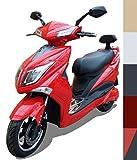 Elektroroller E-Scooter E-Roller Elektro Roller mit Straßenzulassung 45 km/h 60 Kilometer Reichweite, Rot