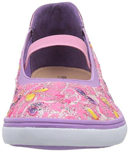 Geox Jr Kiwi Girl D, Ballerines fermées fille Pink (PINKC8005)