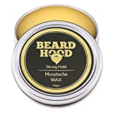 #7: BeardHood All-Natural Moustche Wax for Growth and Strong Hold | Natural Musky Scent 30g