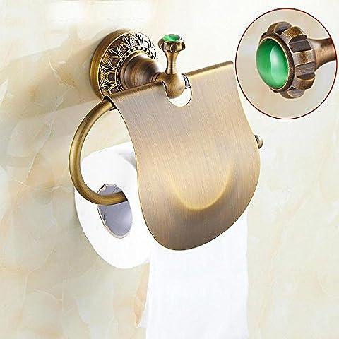 DZXYA Copper antique European-style creative vintage tissue holder toilet roll holder toilet paper holder bathroom accessories