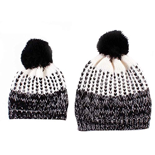 covermason-1set-mommy-and-baby-knitting-hat-outside-matching-outfit-warmer-hat-family-wool-cap-black