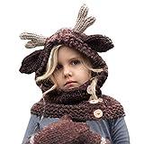 ODJOY-FAN-bambino Lana orecchio banda maglieria bavaglino cappello guanti-Ragazzi  inverno berretto a3129e386de1