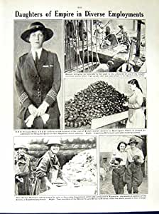 Princesse Mary de Roitelets d'Infirmières de Femmes de la Guerre Mondiale 1917-18
