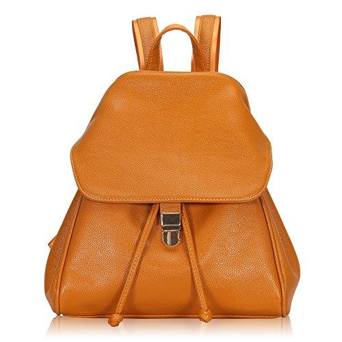 Imagen de veevan  bolso de escuela de las mujeres del bolso de la muchacha de piel sintética(naranja)