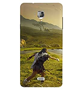 Casecover Nature Printed Colorful Back Cover For Swipe Elite 2 Plus