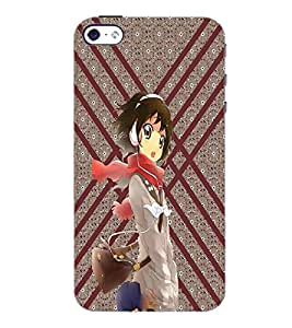 PrintDhaba Music Girl D-3773 Back Case Cover for APPLE IPHONE 4S (Multi-Coloured)