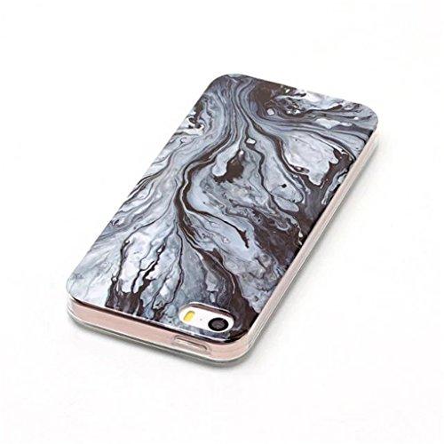 HUANGTAOLI Custodia in Silicone TPU Case Cover per Apple iPhone 5 5S SE C16