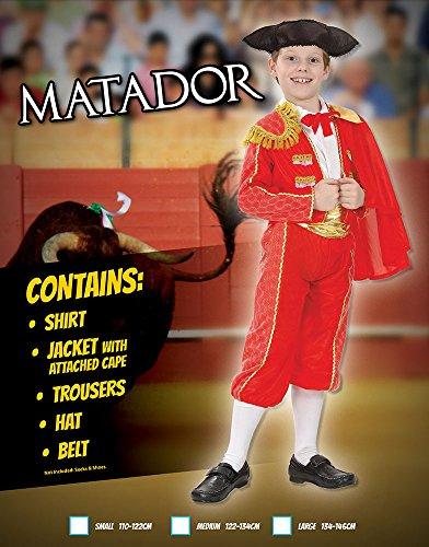 Imagen de disfraz de niño de torero español. 6  9 años alternativa