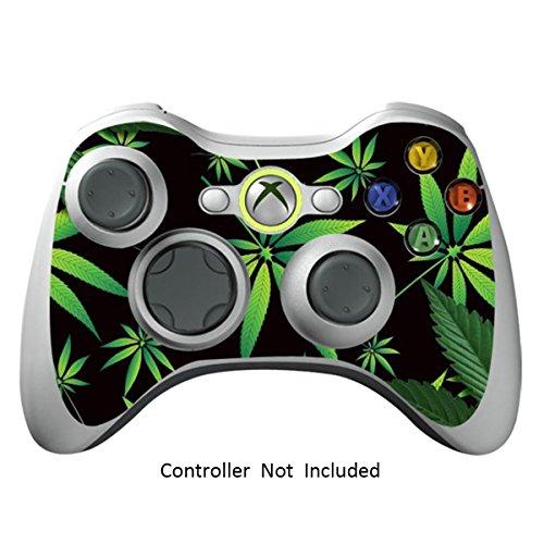 Xbox 360 Controller Designfolie Sticker - Vinyl Aufkleber Schutzfolie Skin für Xbox 360 Controller - Weeds Black (Minecraft Xbox 360-controller)