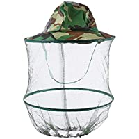 Leo Al Aire Libre Digital Jungle Camuflaje Anti-Mosquito Insecto Pesca Mesh mascarilla Cap Hat