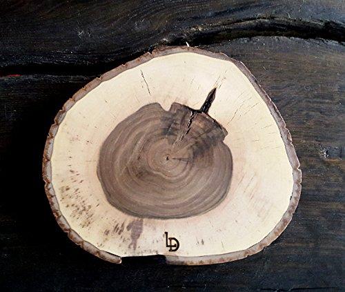 Disque coton – Plateau – Planche à découper, plateau à pizza, jause Planche, Planche à Fromage planche en bois, coton Disque en Noyer massif Épaisseur 2,8 cm