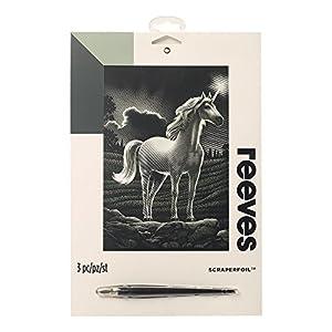 Reeves - Creatividad - Tarjeta de Raspar - Medio, plata - Unicornio