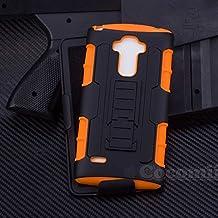 LG G4 Stylus / LG G4 Note Funda, Cocomii Robot Armor NEW [Heavy Duty] Premium Belt Clip Holster Kickstand Shockproof Hard Bumper Shell [Military Defender] Full Body Dual Layer Rugged Cover Case Carcasa LS770 H631 MS631 (Orange)