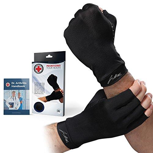 Dr. Arthritis – Arthritis Kompressions-Handschuhe mit Kupfer verstärkt (Paar) und von Ärzten verfasstes Handbuch – Hervorragender...