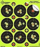 Confezione da 25-7,6cm Stick & Splatter Adesivo Splatterburst Shooting Targets-Your Shots Burst Bright Giallo Fluorescente Urto-Ideale per Armi, Fucili, Pistole, Airsoft, BB & Pellet Guns.
