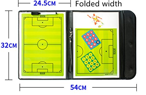 A-NAM Football Soccer Coach s Foldable Magnetic Tactics Strategy Board with an Erasable Write-Wipe 2 in 1 Pen