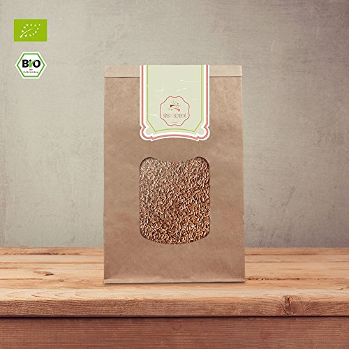 süssundclever.de ® | Bio Leinsamen | ganz | 1kg | plastikfrei und ökologisch-nachhaltig eingepackt | 100% natürlich und unverarbeitet -