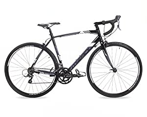 "Mizani Swift 500 Mens' Road Bike Black, 22"" inch aluminium frame, 16 speed schwalbe tyres and Shimano transmission tektro dual pivot road calipers"