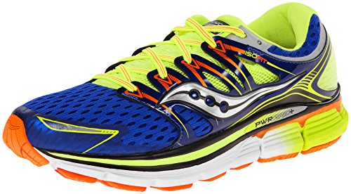 Saucony Triumph 12 - Zapatillas de running unisex, color azul / amaril