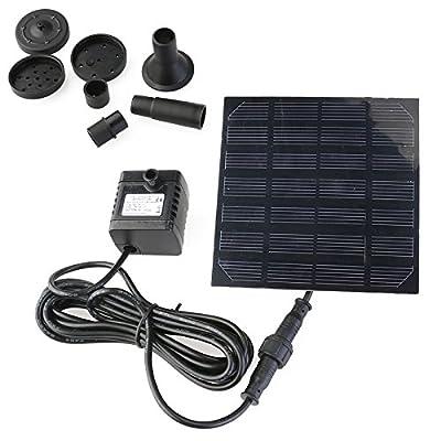 UEETEK 7V 1.2W Pompe à eau à énergie solaire à 180L / H Pomme submersible à l'étang du jardin