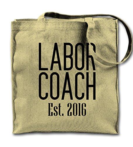 Labor Coach Est. 2016 Komisch Natürliche Leinwand Tote Tragetasche, Tuch Einkaufen Umhängetasche