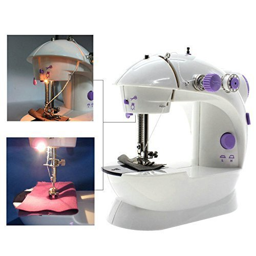 Sewing Machine, TopDiscover Portable Mini Nähmaschinen 2-Speed with Light + 4 Bobbins - 2