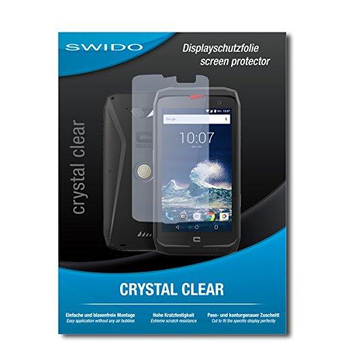 SWIDO Schutzfolie für Crosscall Action-X3 [2 Stück] Kristall-Klar, Hoher Härtegrad, Schutz vor Öl, Staub & Kratzer/Glasfolie, Bildschirmschutz, Bildschirmschutzfolie, Panzerglas-Folie