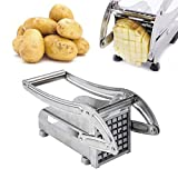Pommes Frites Schneider,Edelstahl Extra Scharfes Set mit 2 Klingen,Frittenschneider für Französische