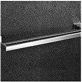 XY&XH toallero ,Espejo de baño pulido acero inoxidable montado en la pared cuadrado Toallero doble, níquel