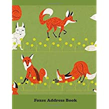 Foxes Address Book: Large Print
