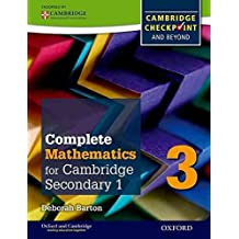 [Complete Mathematics for Cambridge Secondary 1 Student Book 3: For Cambridge Checkpoint and Beyond] (By: Deborah Barton) [published: November, 2014]