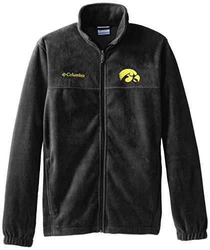 NCAA Iowa Hawkeyes Collegiate Flanker II Full Zip Fleece Jacke, Jungen, Charcoal Heather, XX-Large -